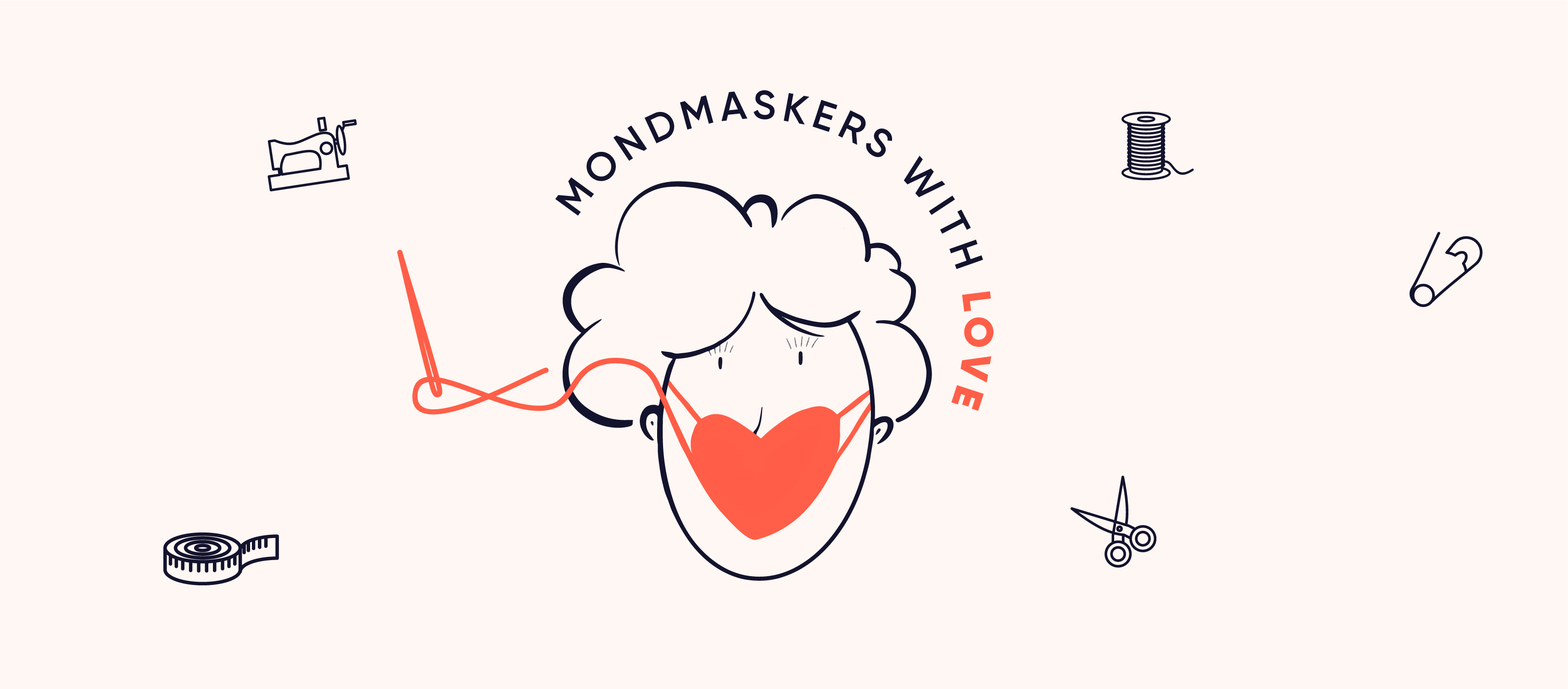 Mondmaskers with love