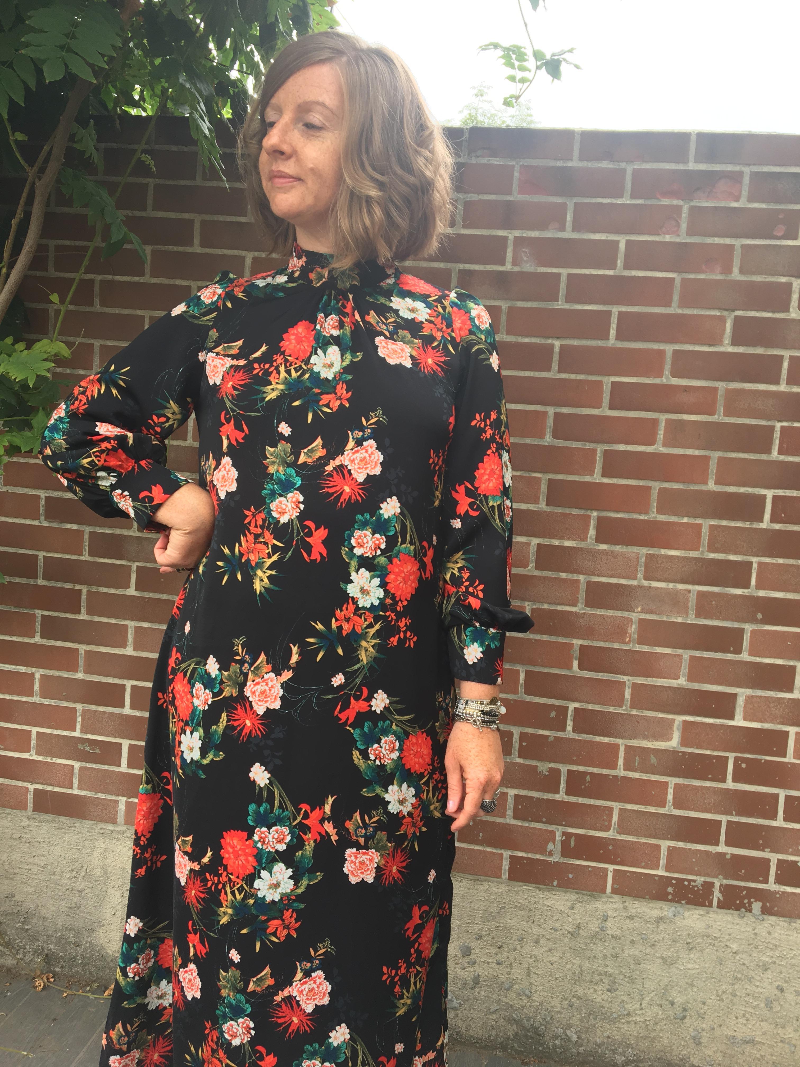 Robe Longue Fleurie Fibre Mood
