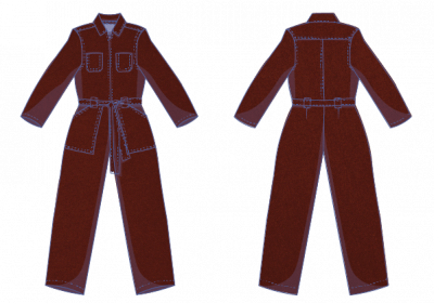 Leah jumpsuit fabric plan Fibre Mood